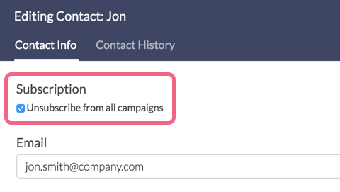 Unsubscribe from All Campaigns