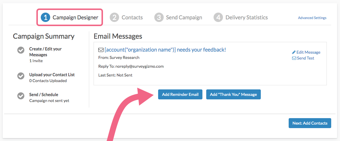 Add a Reminder or Thank You Message to Email Campaigns