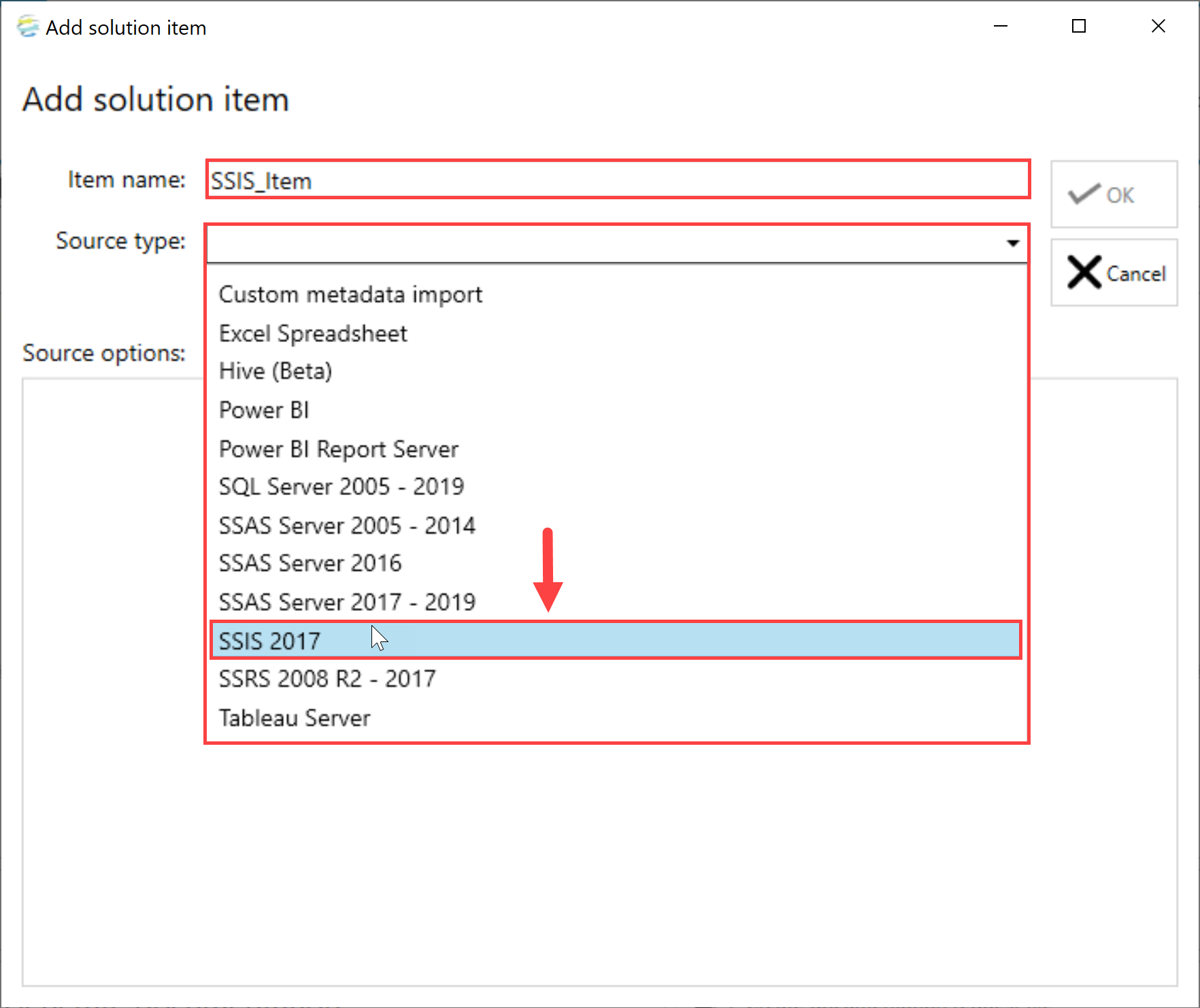 DOC xPress Add Solution Item SSIS Package