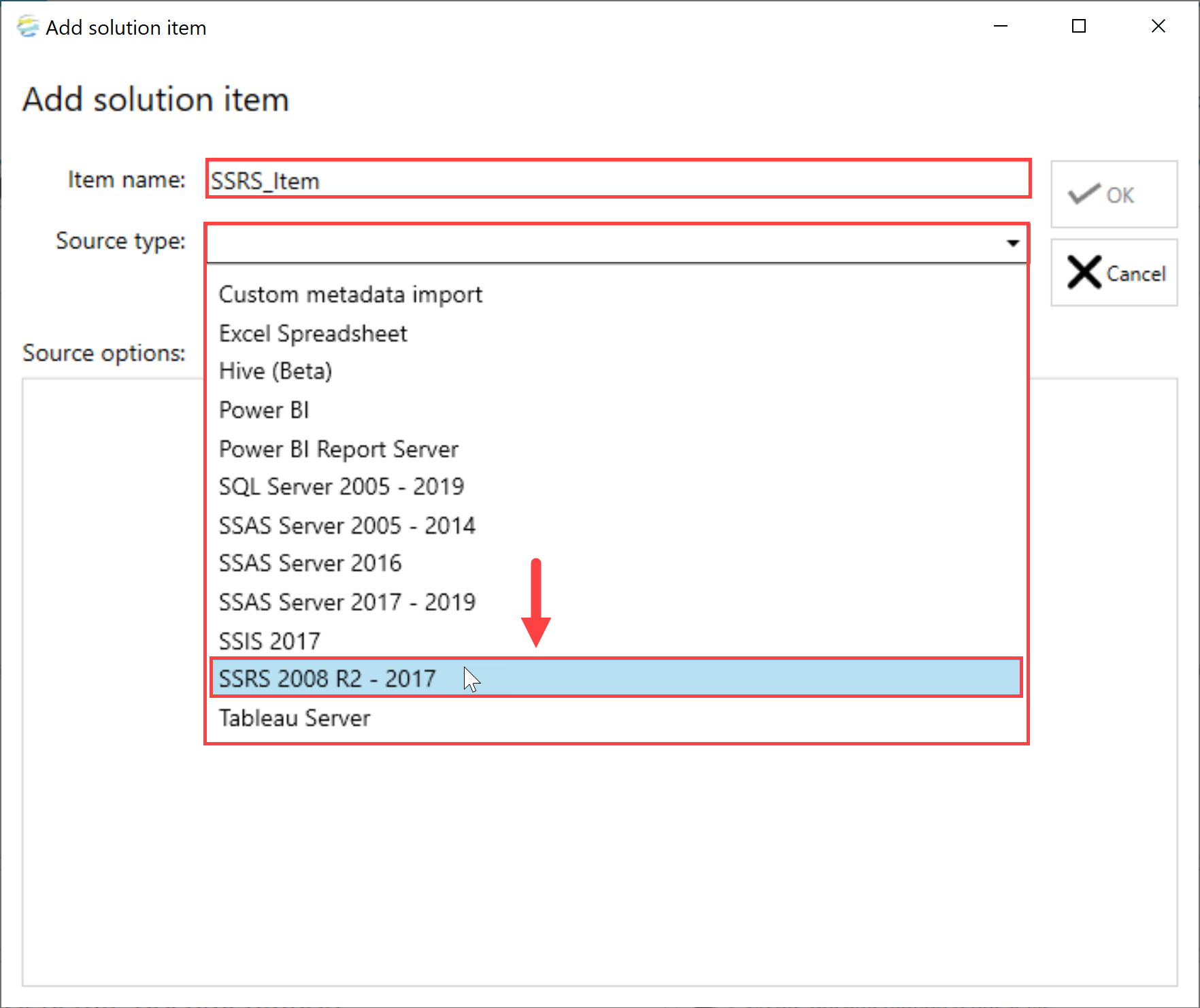 DOC xPress Add Solution Item SSRS 2008 R2 - 2017