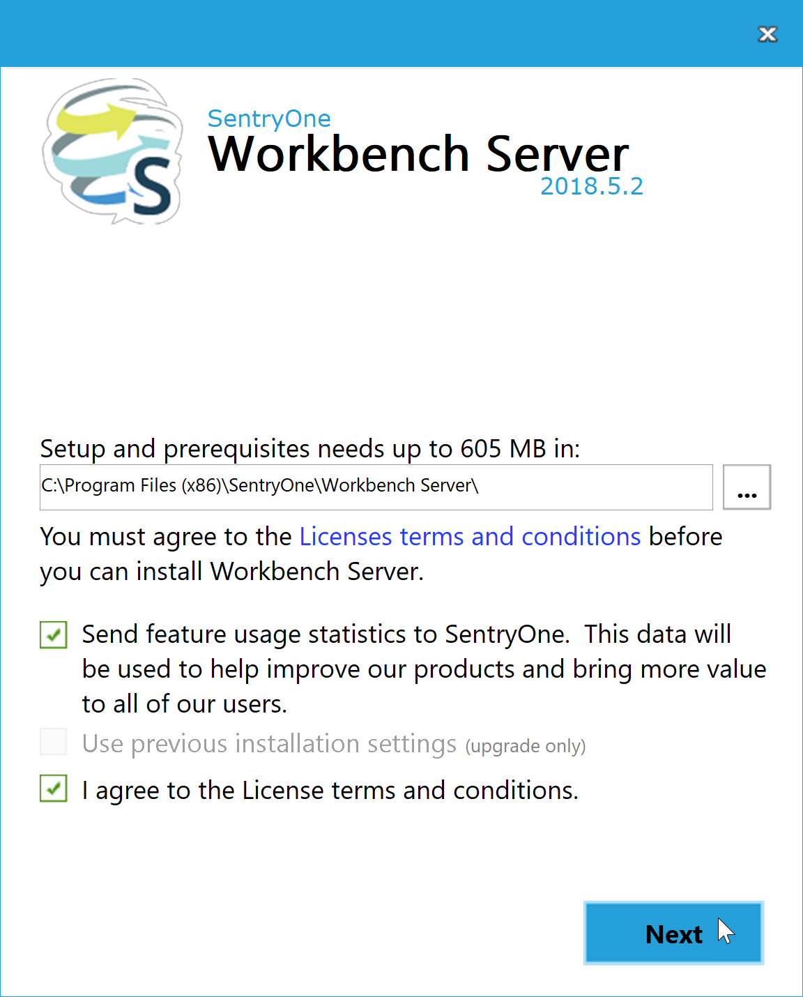 Workbench Server License terms and conditions