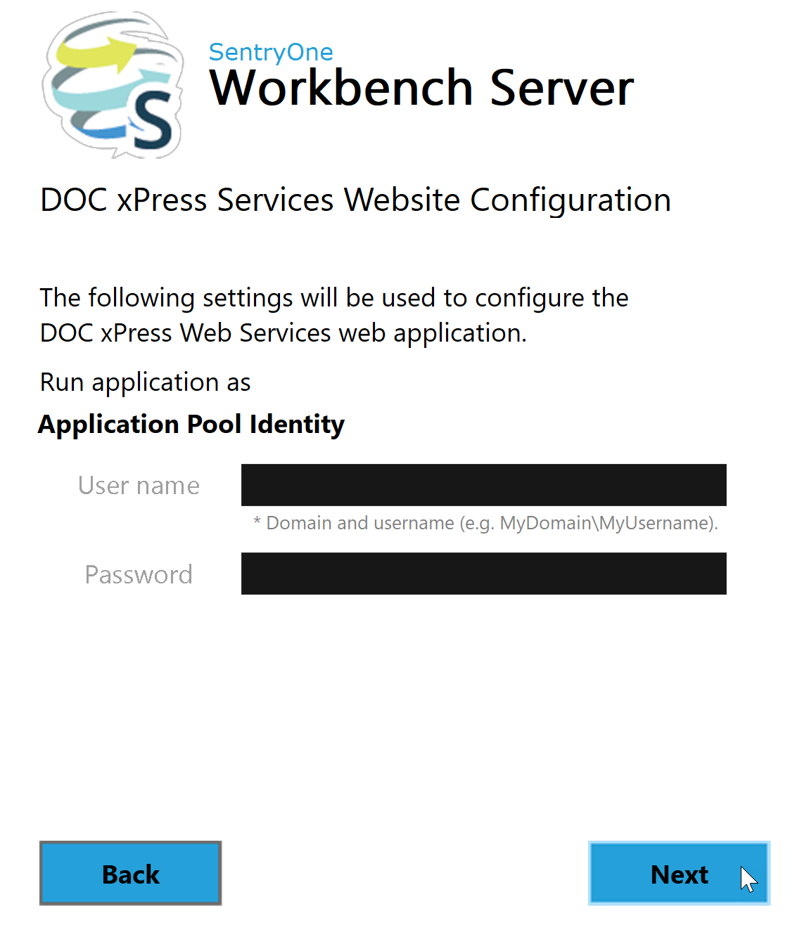 Workbench Server DOC xPress Services Website Configuration