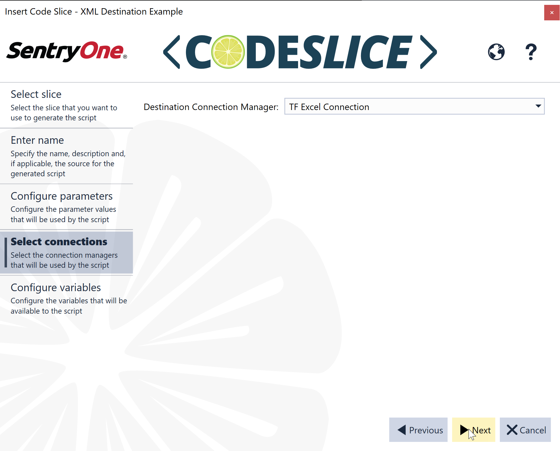 SentryOne CodeSlice Select conections page