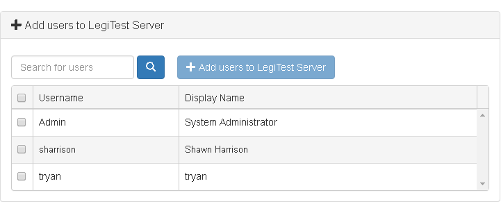 Workbench Server adding users to a feature