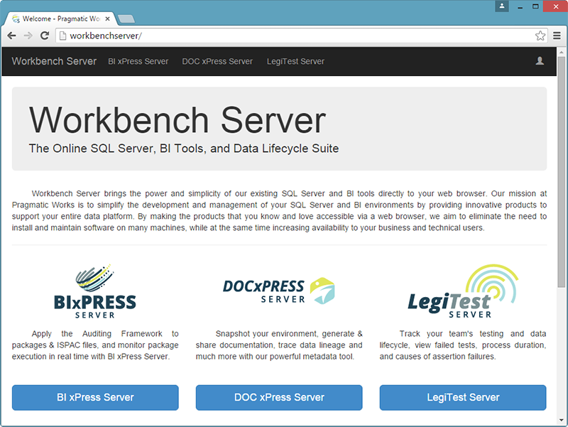 Workbench Server Custom URL
