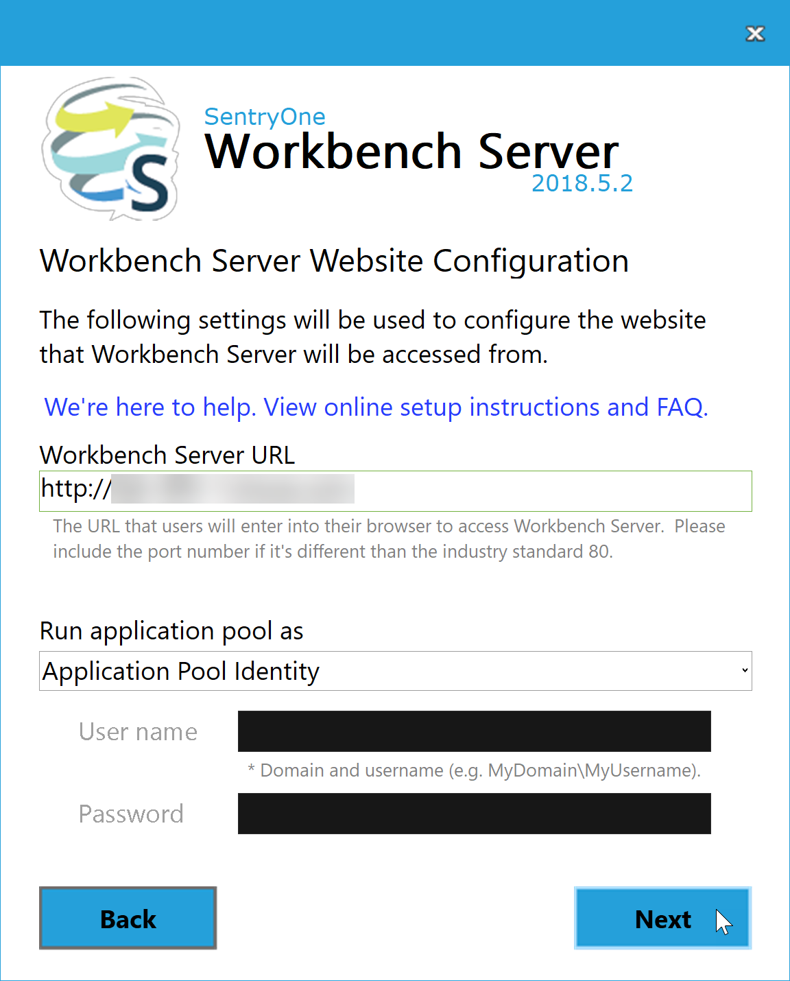 DOC xPress Server Workbench Server Website Configuration