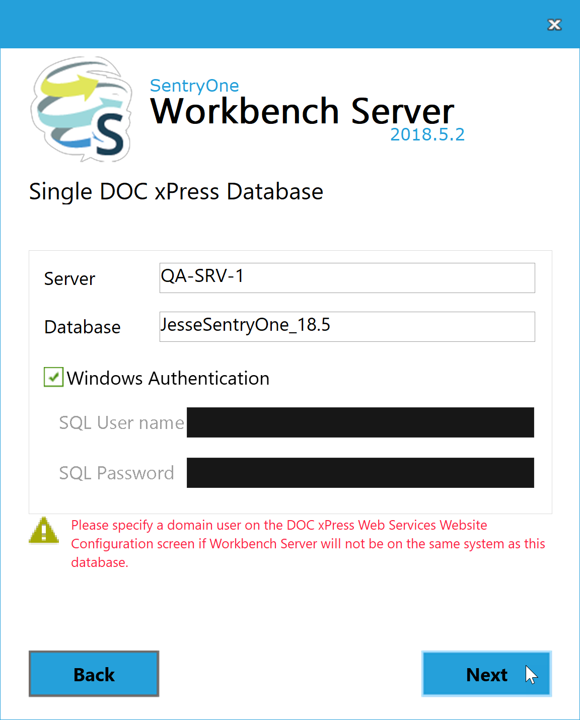 DOC xPress Server Installer Single DOC xPress Database