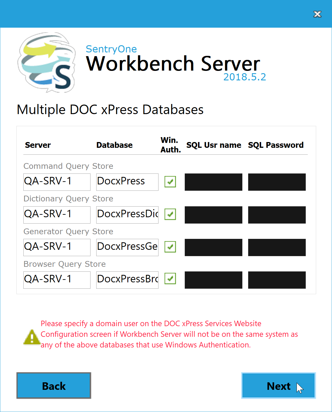 BI xPress Server Installer Multiple DOC xPress Databases