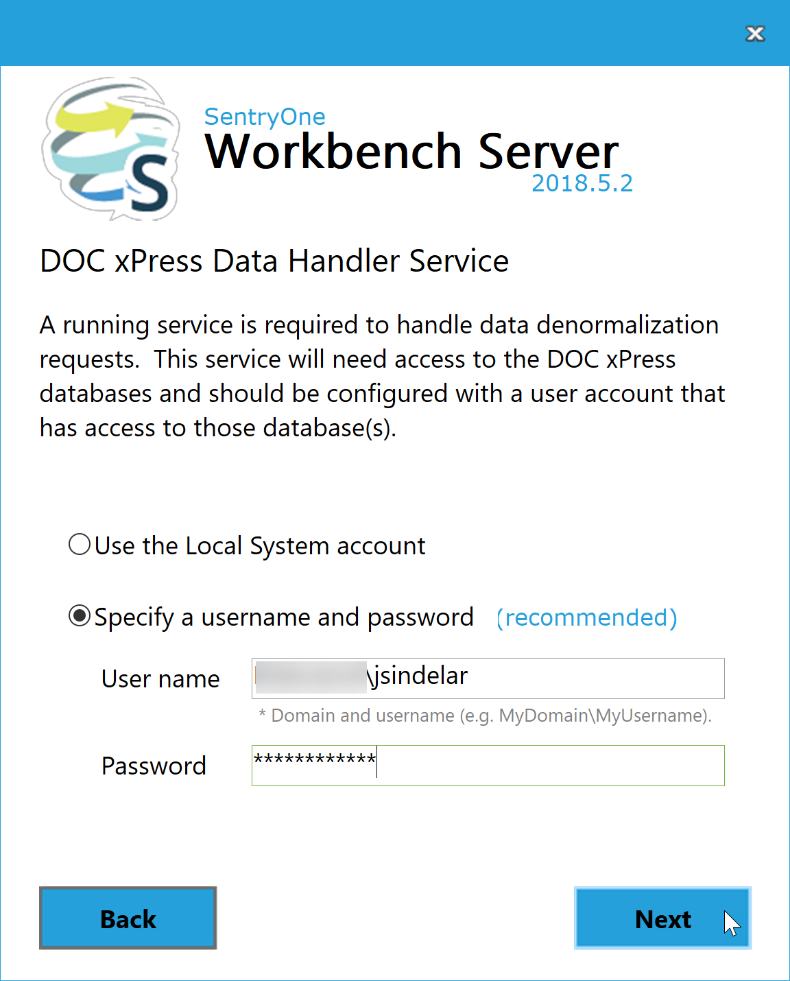 DOC xPress Server DOC xPress Data Handler Service