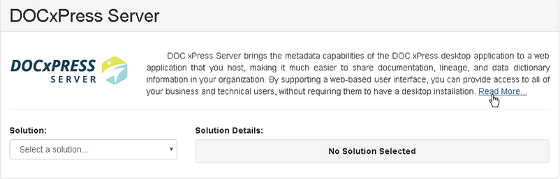 DOC xPress Server select Read More
