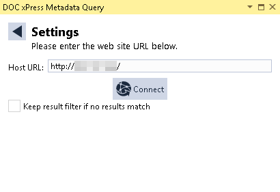 DOC xPress Server DOC xPress Metadata Query Settings
