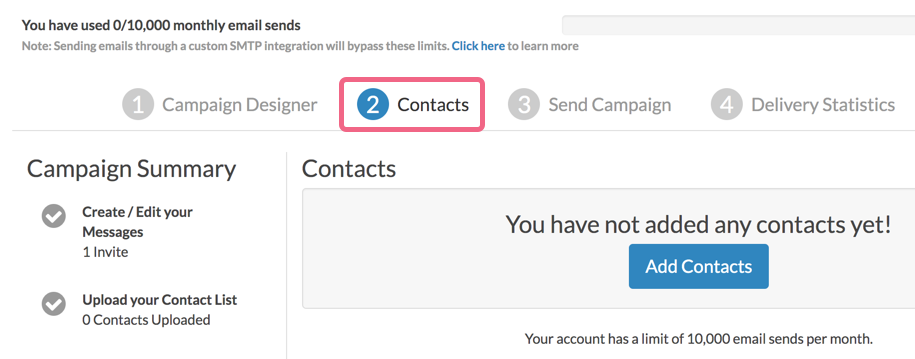Access Campaigns Contacts