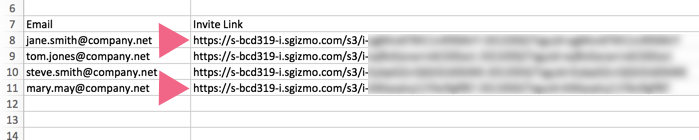 Email Addresses and Associated Links