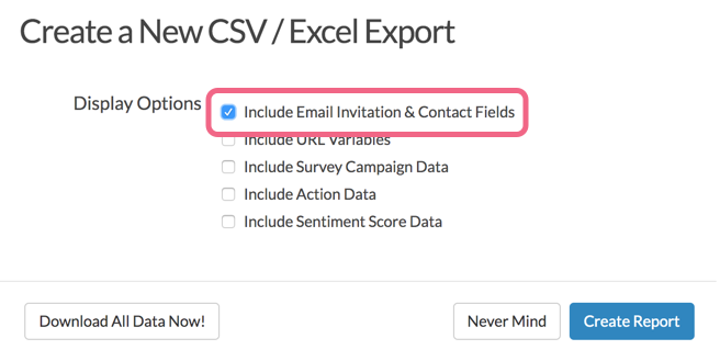 Include Contact Details in Raw Data Export