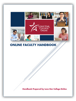 Image of Online Faculty Handbook cover