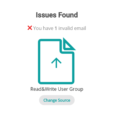 Issues found