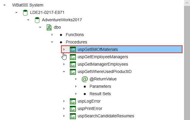 SentryOne Document Lineage Solution Explorer Expand object