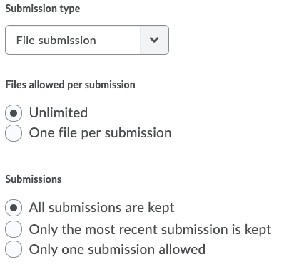 Shows Submission Options