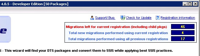 DTS xChange Migration Counter