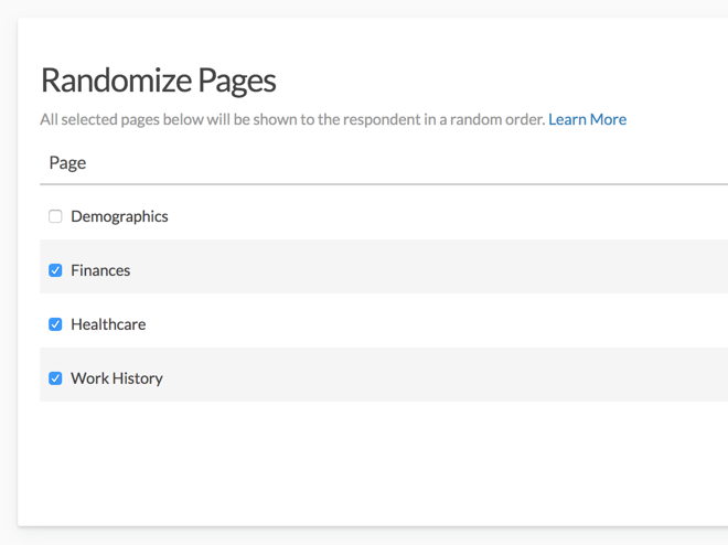 Randomize Pages