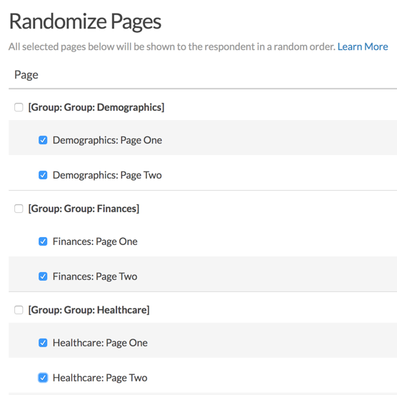 Randomize Pages Within a Defined Group