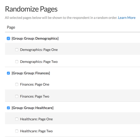 Randomize Groups of Pages With Each Other