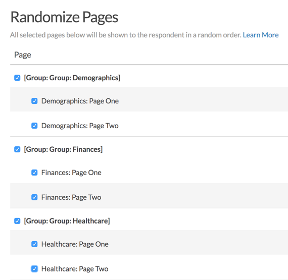 Randomize Groups and Pages Within Groups