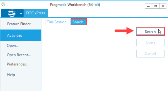SentryOne Workbench Activities Search tab