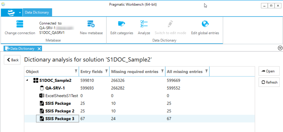 DOC xPress Data Dictionary solution analysis