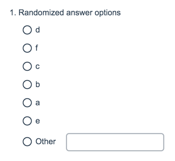 Randomized Answer Options