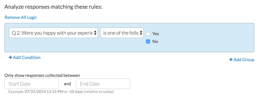 Filter Open Text Analysis: Create Rule