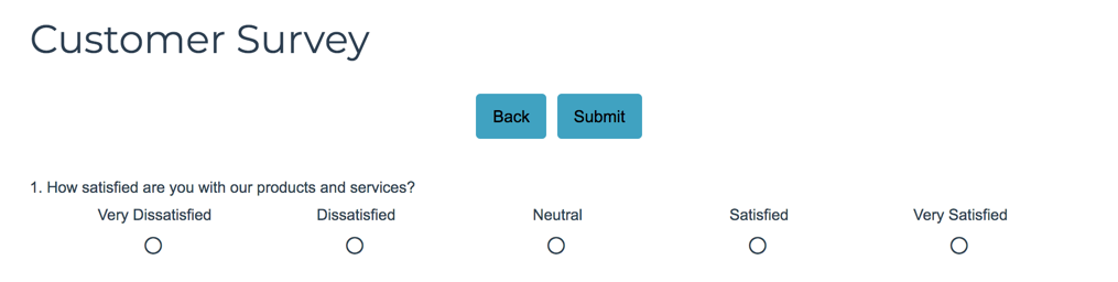 Move Next and Back Buttons At the Top of the Page