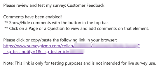 Invite to Test - Email Example