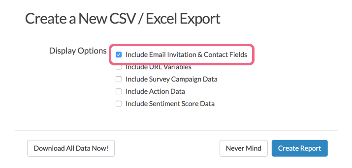 Include Email Invitation & Contact Fields