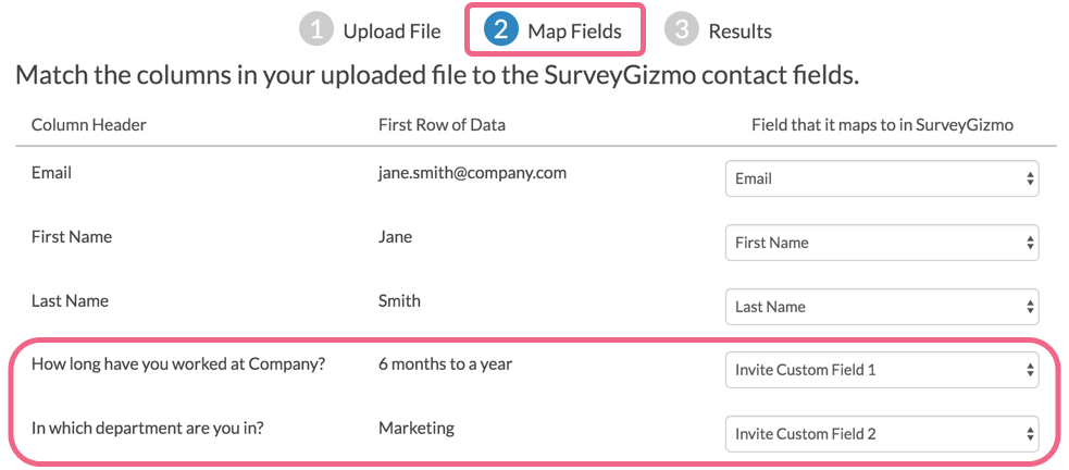Email Campaigns - Map Fields