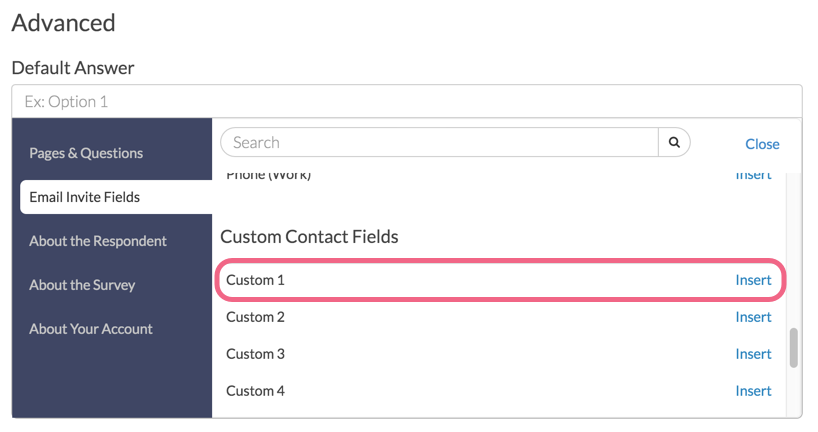 Insert Contact Field Merge Code