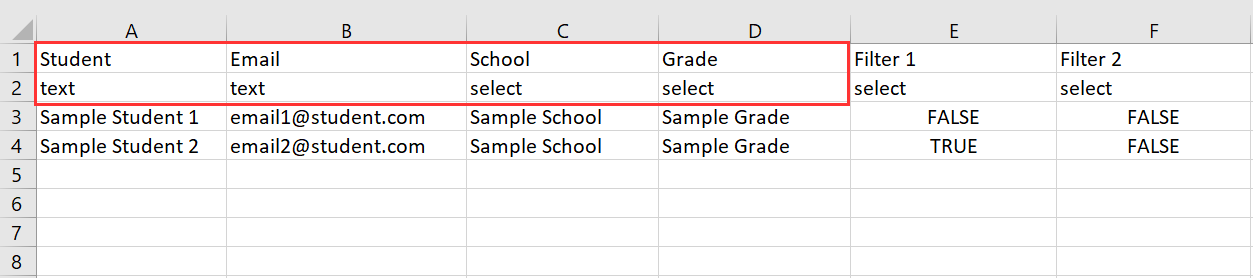 Data Desk Sample CSV Example