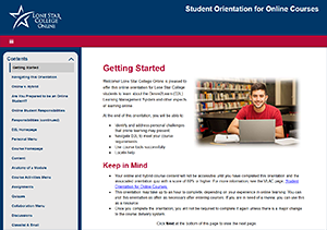 Thumbnail of the Getting Started page of the Student Orientation for Online Courses.
