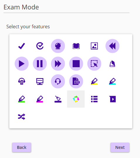 Select features to be used