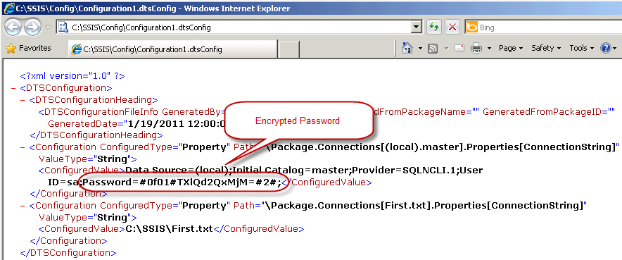 BI xPress Encrypted Package example