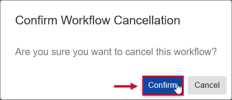 SentryOne Document Confirm Workflow Cancellation window select Confirm