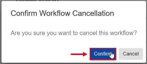 SentryOne Document Task History Confirm Workflow Cancellation window