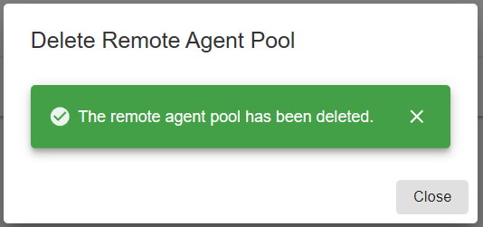 SentryOne Document Web Portal Remote Agent Pool deleted