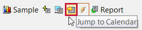 SentryOne Jump To Calendar toolbar button