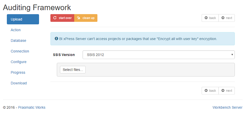 BI xPress Server Auditing Framework Upload