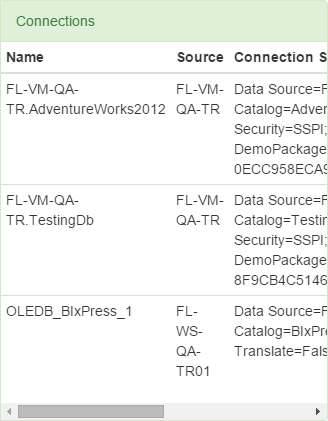 BI xPress Server SSIS Monitoring Connections