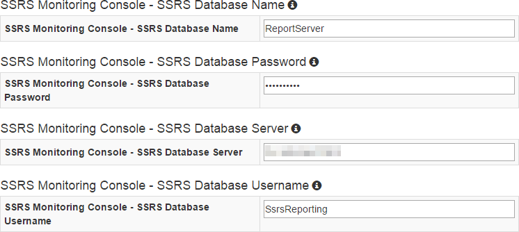BI xPress Server SSRS Monitoring Feature Settings