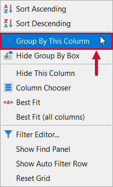 SentryOne Top SQL Group By This Column context menu option