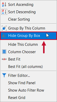 SentryOne Top SQL Show Group By Box context menu option
