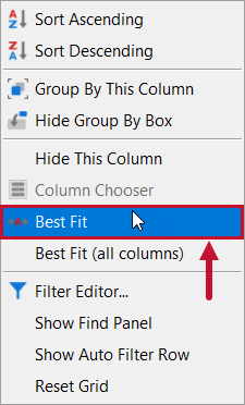 SentryOne Top SQL Best Fit context menu option